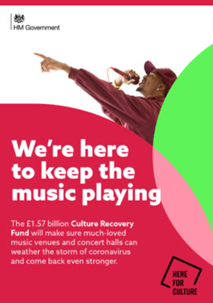 HM Government - We're here to keep the music playing. Here for Culture